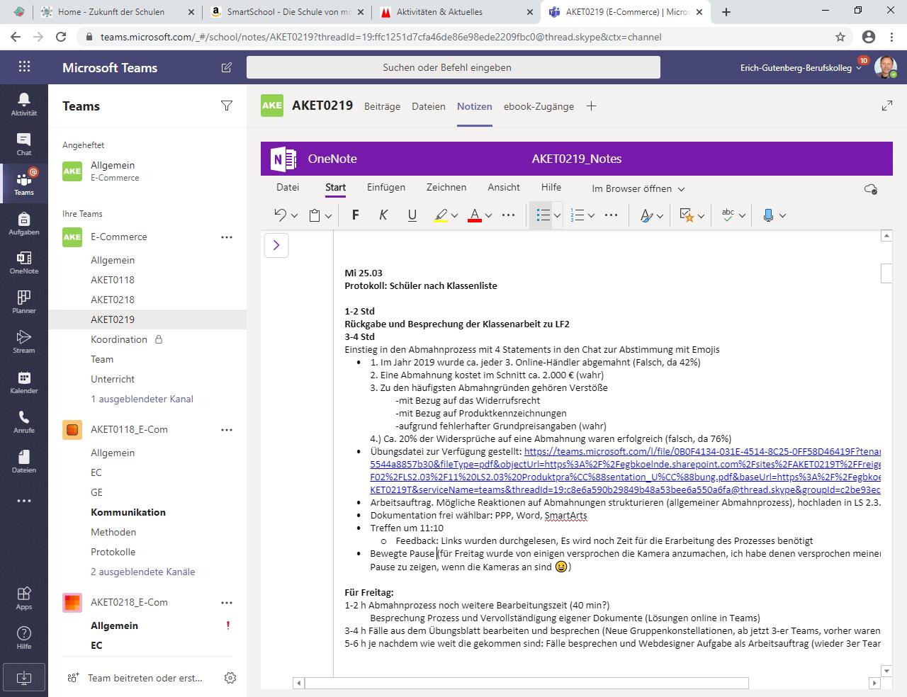 Digitale Unterrichtsplanung mit Microsoft Teams